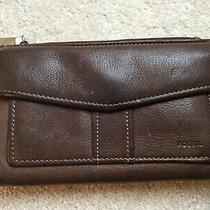 Fossil Womens Wallet Brown Leather Bi-Fold Clutch  7 Length  Photo