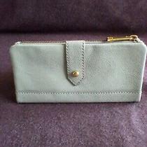 Fossil Womens Wallet Lainie Clutch Grey Genuine Leather Nwt. Photo