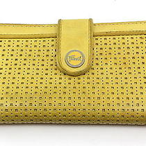 Fossil Women's Yellow Leather Wallet Clutch Photo