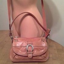 Fossil Women Small Purse Leather/canvas Convertible Crossbody Hobo Bag-Orange Photo