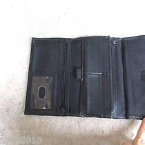 Fossil Women Wallet Clutch Black Organizer Iphone Photo