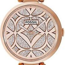 Fossil Women Watch Es3422 Georgia Rose Gold Crystal Dial & Stainless Strap 145 Photo