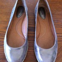 Fossil Womens Ballet Flats-Size 9.5- Worn Once Muted Gold Bronze Tone Photo