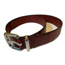 Fossil Womens Belt Size M Genuine Leather Burgundy Red Buckle Photo