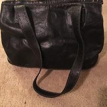Fossil Womens Black Leather Shoulder Bag Purse Photo