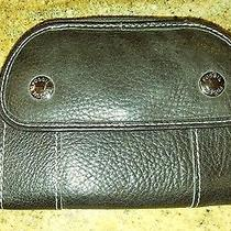Fossil Womens Black Pebbled Leather  Id Coin/cash Trifold Wallet Photo