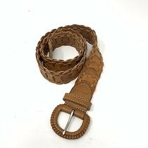 Fossil Womens Braided Genuine Leather Belt Size Small Brown Photo