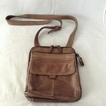Fossil Womens Brown Leather Travel Crossbody Messenger Bag Purse Size Os Photo
