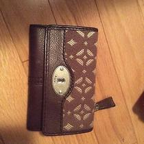 Fossil Womens Brown  Wallet Nwot Photo