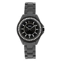 Fossil Womens Ce1054 Ceramic Analog With Black Dial Watch Photo