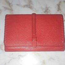 Fossil Womens Coral Orange Trifold Leather Wallet  Photo