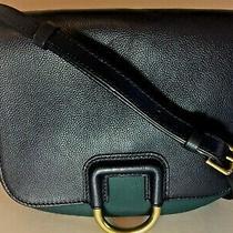 Fossil Womens Crossbody Stella Blue & Green Leather Saddle Bag Purse Handbag  Photo