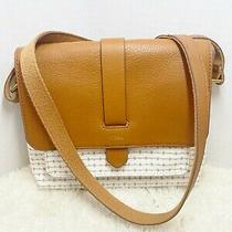 Fossil Womens Kinley Small Crossbody Bag With Wallet 2-Tone Leather Euc Purse Photo