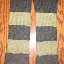 Fossil Womens Knit Long Knit Stripes Green Gloves O/s Photo