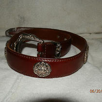 Fossil Womens Leather Belt Sz 28