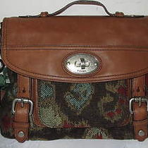 Fossil Womens Maddox Top Handle Tapestry Shoulder Bag-Nwt 198.00 Photo
