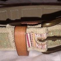 Fossil Womens Patchwork Belt Size Boho Hippie   Photo