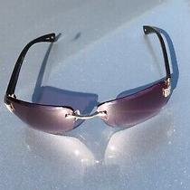 Fossil Womens Pink Tinted Savannah Sunglasses Sapphire Tiny Czech Stones 3859 Photo