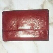 Fossil Womens Red Leather Wallet  Photo