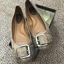 Fossil Womens Shoes Flats Sz 8.5 Antique Gold W Buckle Photo