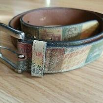 Fossil Womens Size L Multicolor Logo Graphic Hippie Belt Photo