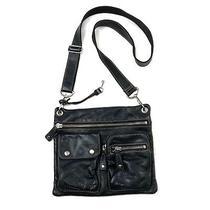 Fossil Womens Small Black Soft Pebbled Leather Crossbody Messenger Handbag Purse Photo