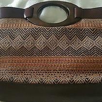 Fossil Wood and Straw Handbag Photo