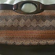 Fossil Wood and Straw Handbag Photo