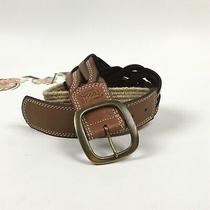 Fossil Woven Leather Belt & Woven Raffia Size Large Photo
