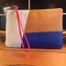 Fossil Wristlet Pouch in Neutral Multi Leather W/wrist Strap Nwts Photo