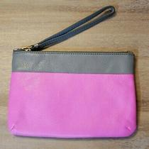Fossil - Wristlet Purse - Hot Pink and Grey Photo