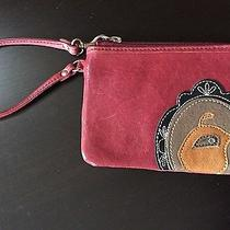Fossil Wristlet Wallet Red Leather With Credit Card Pockets Will Hold Iphone Photo