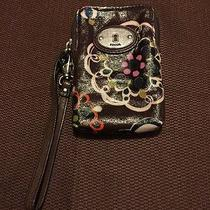 Fossil Wristlet Wallet W Cell Phone Compartment Credit Cards (375) Photo