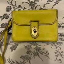 Fossil Yellow Clutch Wristlet Purse Photo