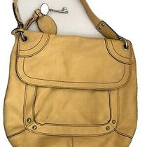 Fossil Yellow Flap Leather Shoulder Bag - Tote - W/ Key and Fob - Surface Marks Photo