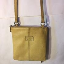Fossil Yellow Genuine Leather Cross Body Messenger Bag Purse Sl8750 Photo