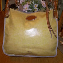 Fossil Yellow Gray Birds Coated Canvas Medium Crossbody Shoulder Bag Photo