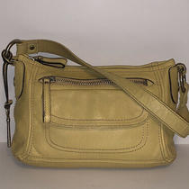 Fossil Yellow Leather Shoulder Bag Handbag Purse Photo