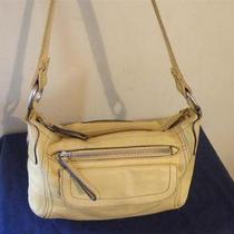 Fossil Yellow Leather Shoulder Tote Bag Handbag Purse Photo