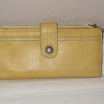 Fossil Yellow Leather Wallet Photo
