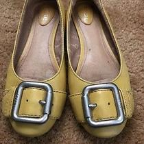 Fossil Yellow Leather Women's Flat Shoes Size 7 Photo