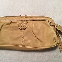 Fossil Yellow Leather Zip Around Clutch Large Photo