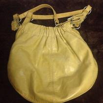 Fossil Yellow Purse Faux Leather Pleather Handbag Shoulder Bag Floral Lining Photo