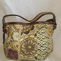 Fossil Zb2957 Canvas Leather Shoulderbag Hobo Bag Purse Floral Patchwork Key Euc Photo