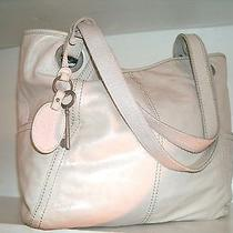 Fossil Zb3605 Large Ivory Pearl Hathaway Leather Tote Bag Nice and Spacious Vgc Photo