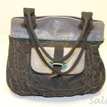 Fossil Zb5020 Key-Per Quilted Microfiber / Leather Crossbody Utility Messenger-& Photo