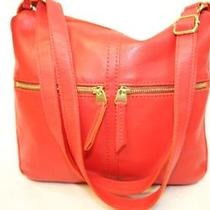Fossil Zb5460 Red Leather Zip Top Erin Cross Body Messenger Bag Jb Photo
