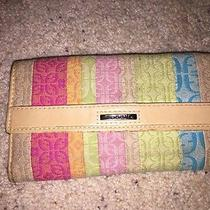 Fossil Zip  Bright Multi Colored Canvas Wallet Photo