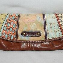 Fossil Zip Clutch Colorful Retro Patchwork 8
