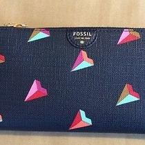 Fossil Zip Clutch New Clutch Wallet Hearts Sl6900745 Limited Edition Photo